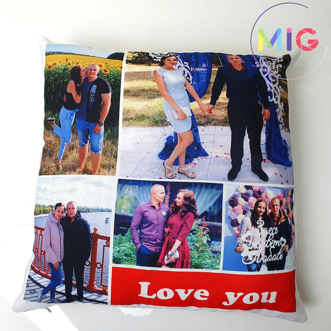 Подушка с фото в высоком разрешении